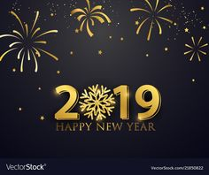 happy new year 2019 greeting wallpaper