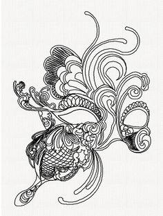 steampunk mask drawing - Google Search