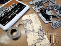 people often ask how i plan these monthly tags? truth is, i don't... each month i look back on tags from previous years, choose two very random techniques that have nothing to do with the other, ...