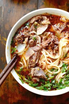 Make Lanzhou Beef Noodle Soup -- 18 Noodle Soup Recipes to Make You Temporarily Forget About Ramen : brit+co.