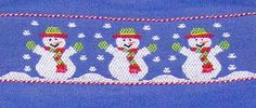 Claire & Charlie Infant / Toddler Boys Periwinkle Blue Corduroy Smocked Snowman LONGALL