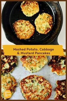 With a sweet, heartening flavour, these vegetable pancakes are great comfort food and quick to mix up using leftover mashed potatoes and zesty mustard. Serve alongside grilled sausages or chops for a hearty supper. Vegetable Pancakes, Vegetable Dishes, Leftover Mashed Potatoes, Grilled Sausage, Mustard Recipe, Brunch Recipes, Easter Recipes, Appetizer Recipes