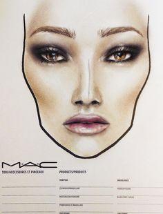 a novel romance MAC - face-chart by Amalia Bot