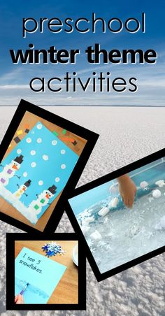 Preschool winter theme activities-teaching tools, lesson plans, sensory and art ideas, freebies and more! #winter #preschool