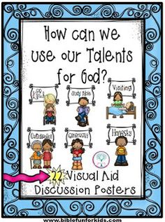 Parable of the Talents Application Visuals. Great for many Bible lessons! Bible School Crafts, Bible Crafts For Kids, Preschool Bible, Bible Activities, Sunday School Kids, Sunday School Activities, Sunday School Lessons, Sunday School Crafts, Bible Stories For Kids