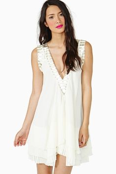 Battle Lines Dress - Ivory