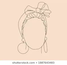 Face Line Drawing, Female Face Drawing, Drawing Women, Woman Drawing, Face Lines, Pot Plants, Fresh Image, Abstract Images, Minimalist Art