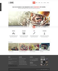 BigBang in WordPress by WordPress Awards , via Behance