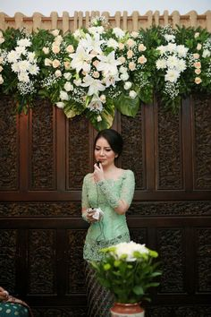 Trendy ideas for wedding bridesmaids pastel bridal parties Engagement Decorations, Wedding Flower Decorations, Wedding Bridesmaids, Wedding Gowns, Javanese Wedding, Batik Couple, Model Kebaya, Foto Wedding, Akad Nikah