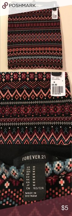 Tribal Print Skirt Tribal Print • Skirt • Stretch • Medium • Never Worn • Tags Attached • Forever 21 Skirts Mini