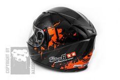 Casques Stage6 Racing MKII Gris / orange