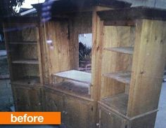 Before & After: Old Entertainment Center Turned Fresh Toy Storage