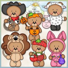 Clip Art and Black and White Download with 6 Color Images and 6 Black and White Images.  All images are high quality 300 dpi for beautiful printing results.CLIP ART & Black and White Images (with a white fill as shown in the preview)Formats: transparent PNG and non-transparent JPGIncludes:  6 Halloween trick or treat teddy bears wearing a variety of Halloween costumes.Shop Other Autumn / Fall Sets:Autumn Bears (Fall Teddy Bears) 1 - CU Clip Art & B&W ImagesLove You A Latte Bears