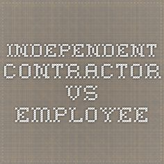 Independent contractor vs. employee Self Employment, Coding, Business, Programming