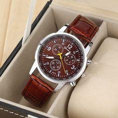 Кафяв мъжки часовник Код: 148