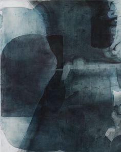 scandinaviancollectors:  ERIC BLUM,Untitled Nº685,2013. Ink, silk& beeswax on panel. / Eric Blum