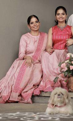 Mom And Baby Dresses, Lehenga, Saree, My Mom, Ethnic, Twins, Kids Fashion, Blouses, Traditional