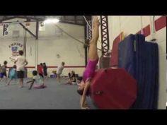 Gymnastics Handstand Drill with Barrel