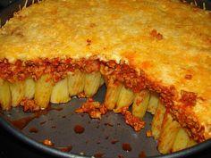Rigatoni torta :: Ami a konyhámból kikerül Vacsi Hungarian Recipes, Rigatoni, Bologna, Lasagna, Sandwiches, Brunch, Dinner Recipes, Pie, Dishes