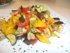 Ratatouille di verdure di stagione al profumo di timo e menta.