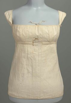 Stays  possibly French, worn in America, early 19th century  Mehetable Stoddard Sumner (Welles), American, 1784–1826  PLACE OF MANUFACTURE  possibly France