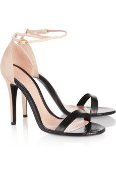 ++ leather & suede sandals