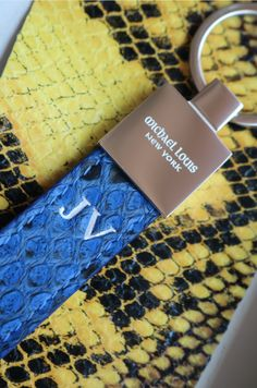 Classic Key Holder in Blue Python 🐍 - Personalized 'JV' for Jelle.   Personalize your own, https://michaellouis.com/collections/key-holders/products/classic-key-holder-blue-python  Classic Key Holder | #MichaelLouis - www.MichaelLouis.com