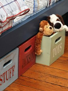 Cottage Kids-rooms from Susie Fougerousse on HGTV.    Colors sage green, rust red, light blue with dark blue.