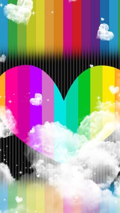 By Artist Unknown. Crazy Wallpaper, Rainbow Wallpaper, Star Wallpaper, Colorful Wallpaper, Mobile Wallpaper, Hello Kitty Backgrounds, Cute Backgrounds, Cute Wallpapers, Iphone Wallpapers