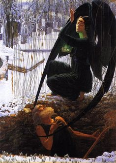 The Athenaeum - The Grave Digger's Death (Carlos Schwabe - )