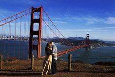Golden Gate Bridge & beautiful Bay Area engagement photos by D. Park Photography