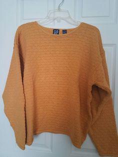 GAP women's sweater size L pumpkin orange preowned #Gap #Crewneck