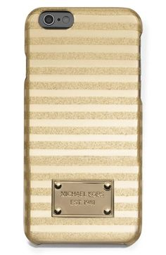 MICHAEL Michael Kors 'Candy Stripe' iPhone 6 Case available at #Nordstrom