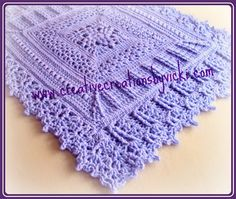 This is a beautiful baby blanket! Heirloom Coverlet for Baby - Media - Crochet Me