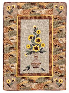 Quilts from Grandmother's Garden 4------interesting use of border fabric