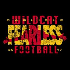 The Carlisle Wildcats are Fearless. Football Shirt Designs, Football Design, Football Shirts, Custom Basketball Uniforms, Sports Uniforms, Football Usa, High School Football, Sports Logos, Sports Shirts
