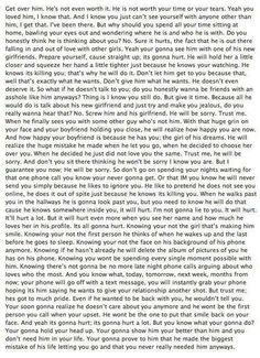 Yep...Probably the best breakup/relationship advice I have ever read.