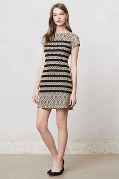 Grosgrain Lace Shift #anthropologie
