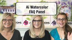 By Kate Swanson, Bonnie Krebs, and Kendra Krebs. Art Impressions  - Watercolor FAQ Panel, Part 2.