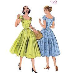 90s Rockabilly dress sewing pattern Butterick 6175