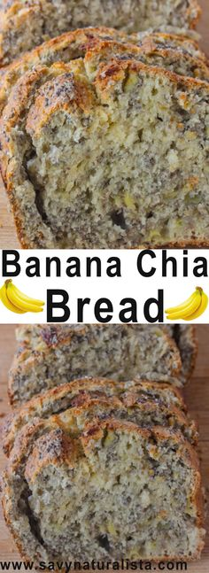 Banana Chia Bread – Savvy Naturalista This banana bread is dairy free, and baked with chia seeds and real banana for a nutritional boost Healthy Foods To Make, Good Healthy Recipes, Healthy Snacks, Healthy Eating, Snacks List, Breakfast Cookies, Breakfast Recipes, Chia Breakfast, Dinner Recipes