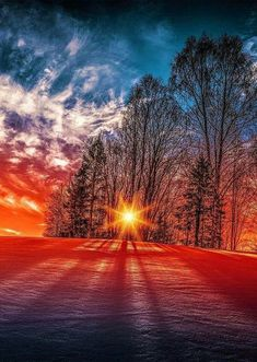 Winter sunset in Norway Beautiful Sunset, Beautiful World, Beautiful Places, Beautiful Scenery, All Nature, Amazing Nature, Cool Pictures, Beautiful Pictures, Winter Pictures