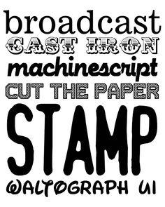 fab fonts  thursday, june 2, 2011 –  fonts  Found at :: http://eighteen25.blogspot.ca/2011/06/fab-fonts.html
