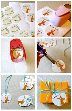 Holiday Lights Gift Tags - Step-by-Step Tutorial + Free PDF Printable.