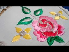 Crochet Shawl Free, Mexican Embroidery, Hand Embroidery Videos, Vides, Flower Embroidery Designs, Chrochet, Costume Jewelry, Stitch, Flowers