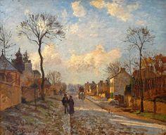 La route de Louveciennes (1872) Camille Pissarro 1830-1903