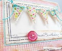 Gorgeous pastel bunting 'happy birthday' card =)