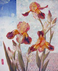 "Saatchi Art Artist Yulia Luchkina; Painting, ""Irises"" #art"