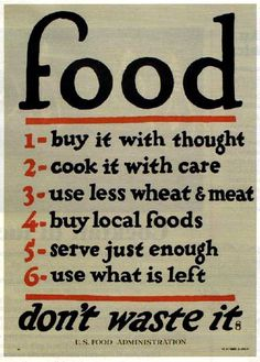 6 savvy rules on food and eating thought by the US Food Administration in the early 50s and that we should bring back!