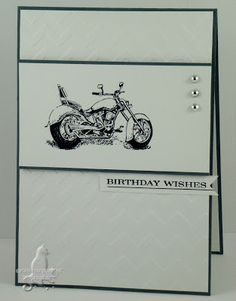 Cat's Ink.Corporated: Seize the Birthday #11 - Male Card - Motorcycle